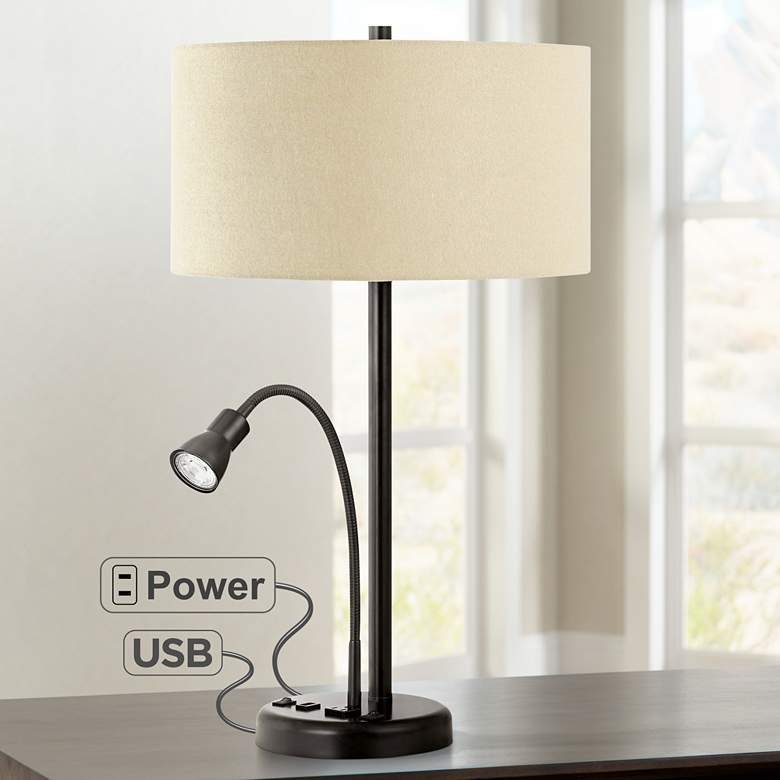 Sivana Dark Bronze LED Reading Light USB Desk Lamp