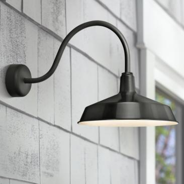 "RLM Standard 19"" High Outdoor Wall Light in Black"