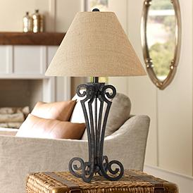 Black Iron Table Lamps Lamps Plus
