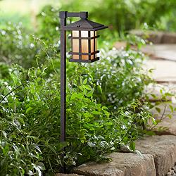 Kichler Cross Creek Bronze Lantern Landscape Path Light