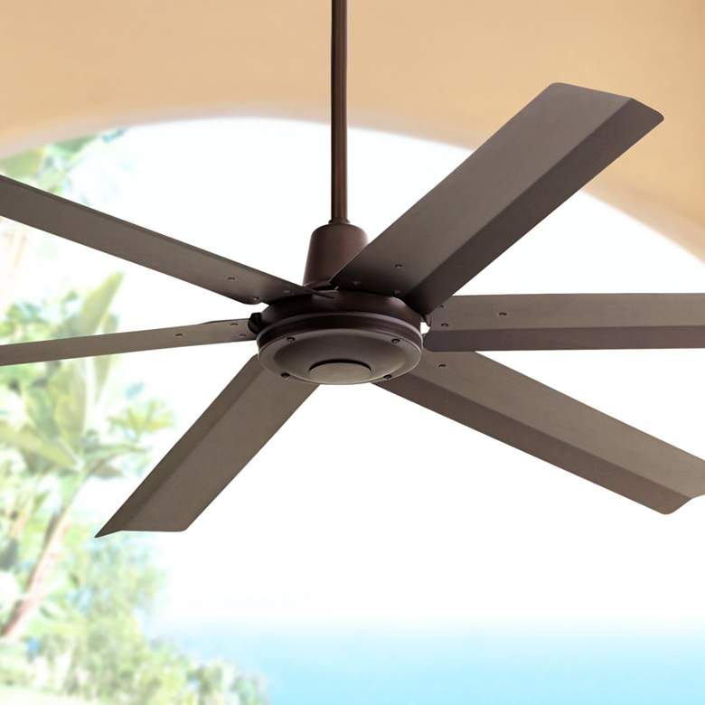 "60"" Turbina Max™ DC Bronze Outdoor Ceiling Fan"