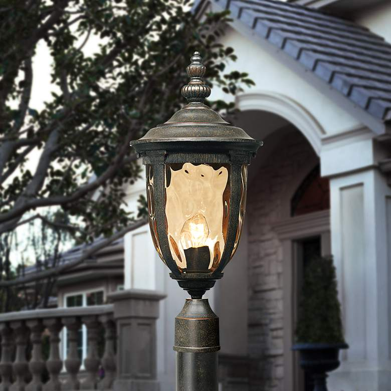 "Bellagio 103"" High Bronze Outdoor Post Light with Pole"