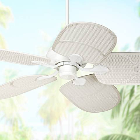 52 Casa Vieja Tropical White Outdoor Ceiling Fan