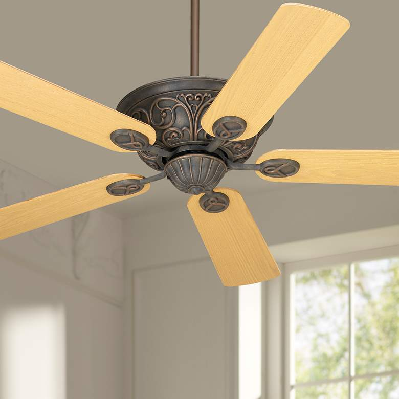 "52"" Casa Contessa™ Bronze Light Oak Blades Ceiling"