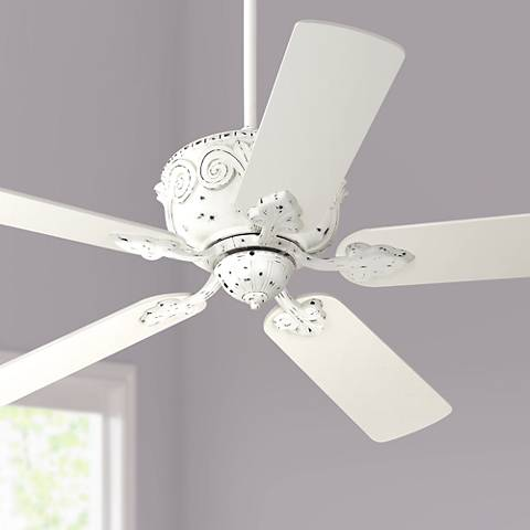 52 Casa Deville Antique Rubbed White Ceiling Fan