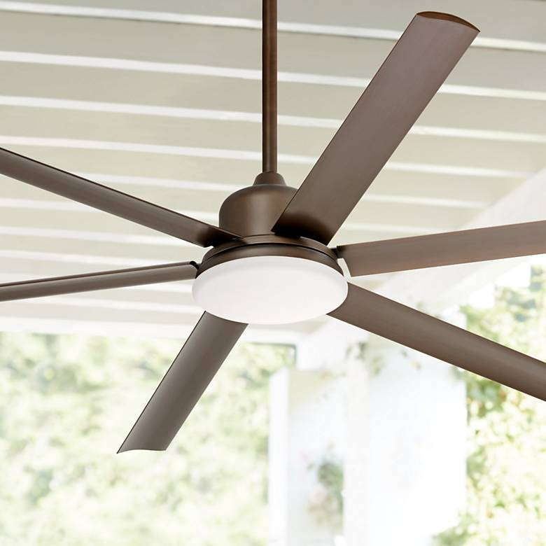"72"" Casa Arcade™ Bronze Damp LED Ceiling Fan"