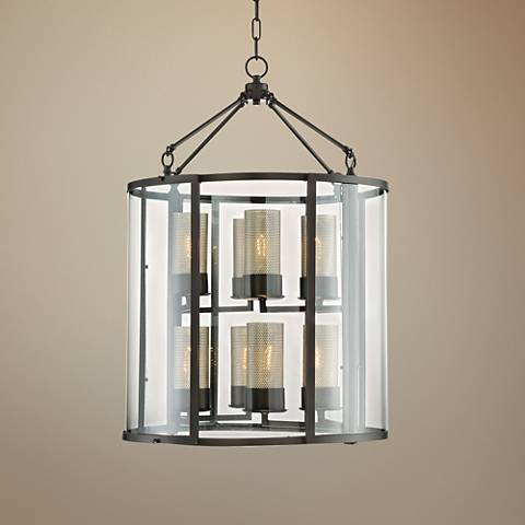 "Varaluz Jackson 22"" Wide Rustic Bronze 8-Light Pendant"