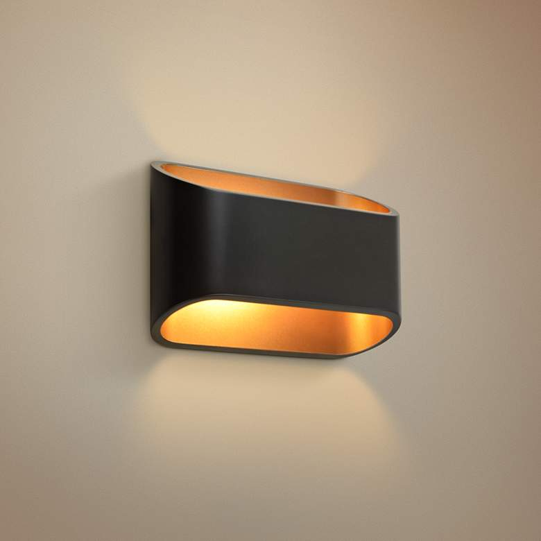 "Bruck Eclipse 4 1/2"" High Black LED Wall"