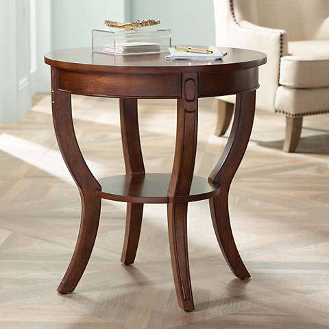 Patterson Americana Cherry Round Wood End Table