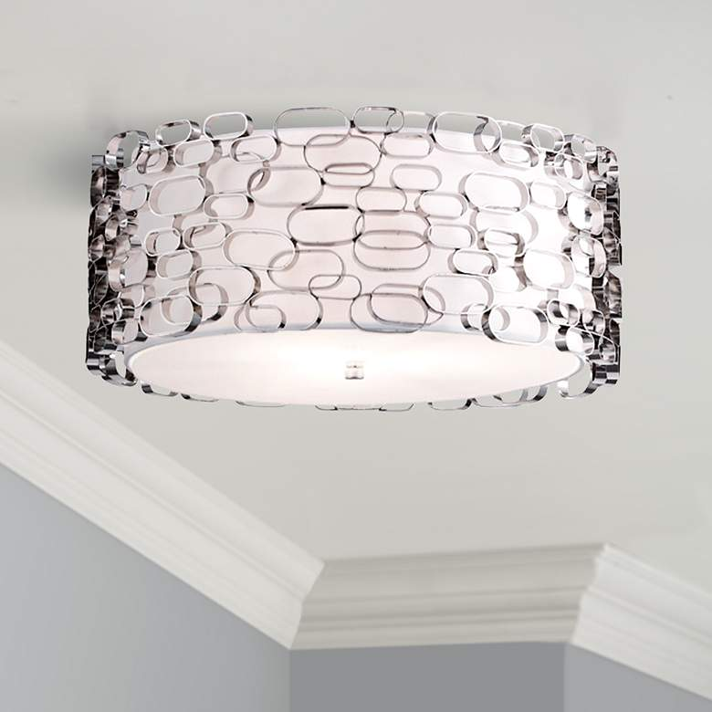 "Avenue Ventura Blvd. 14"" Wide Polished Nickel Ceiling"