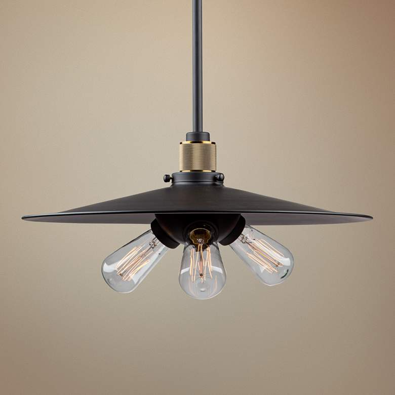 "Artcraft Jersey 18"" Wide Vintage Brass 3-Light Pendant"