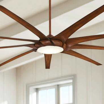 "99"" Minka Aire Ninety Nine Distressed Koa LED Ceiling Fan"