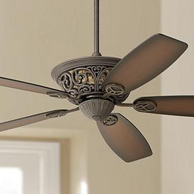 56 Casa Brisbane Black Rust With Teak Blades Ceiling Fan