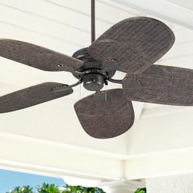 52 Casa Vieja Outdoor Tropical Veranda Bronze Ceiling Fan