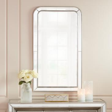 "Possini Finnley Champagne 26"" x 45"" Frameless Wall Mirror"