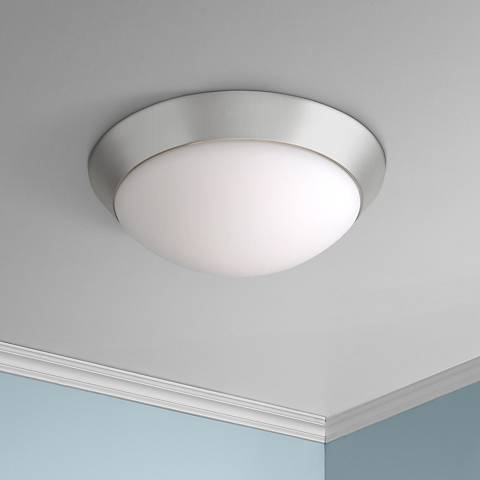 Davis 11 wide brushed steel ceiling light fixture