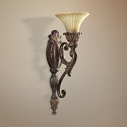 "Quorum Madeleine 21 1/2"" High Corsican Gold Wall Sconce"