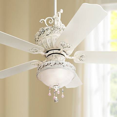 52 Quot Casa Chic Ceiling Fan With Pretty And Pink Light Kit