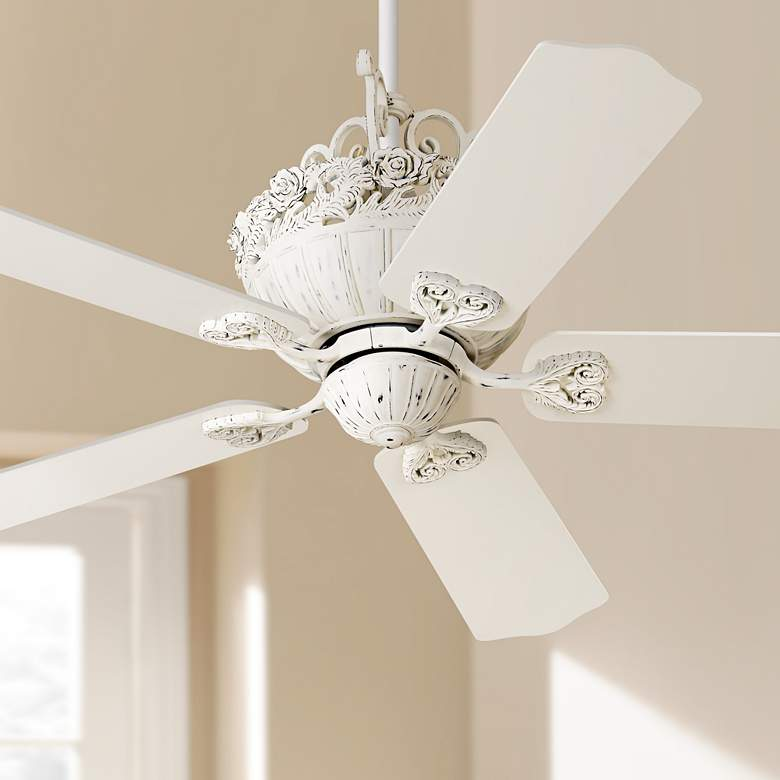"52"" Casa Chic™ Rubbed White Ceiling Fan"