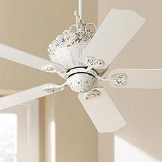 Country cottage ceiling fans lamps plus 52 casa chic rubbed white ceiling fan mozeypictures Images