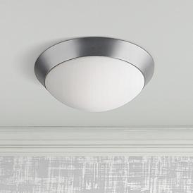 Davis 15 Wide Brushed Steel Ceiling Light Fixture