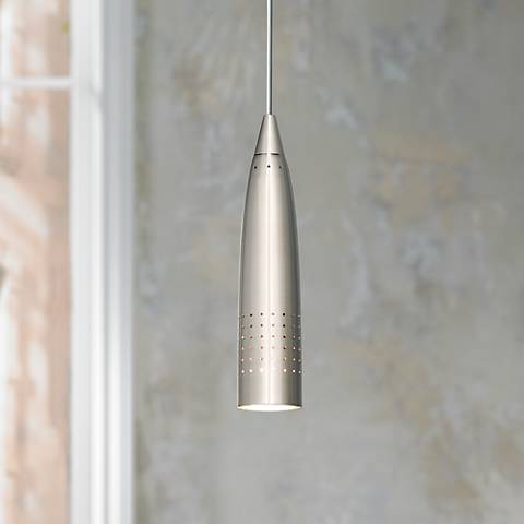 Odyssey Collection Brushed Steel Halogen Mini Pendant