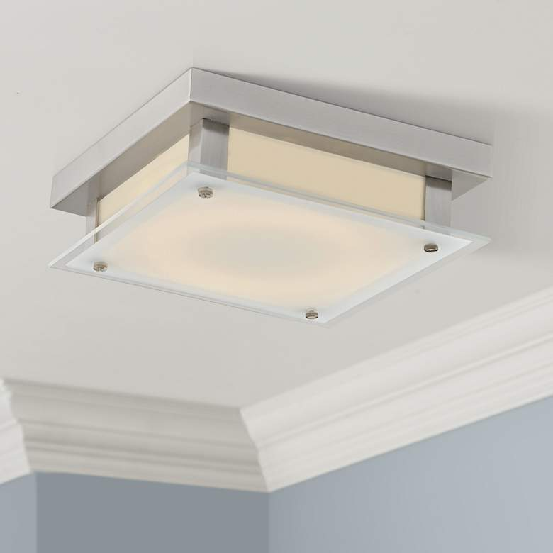 "Avenue Cermack St. 12""W Brushed Nickel LED Ceiling"