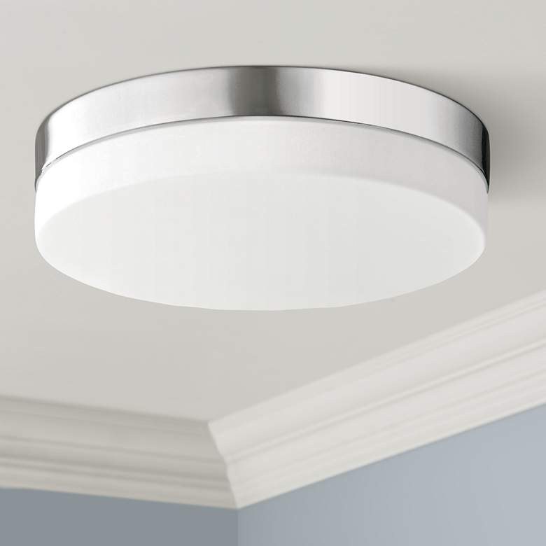 "Cermack St. 9"" Wide Round Chrome Modern LED"