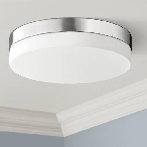 "Avenue Cermack St. 9"" Wide Chrome Round LED Ceiling Light"