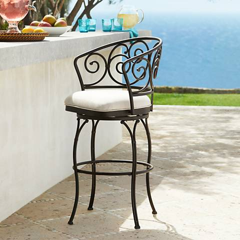 "Hillsdale Austin 30"" Outdoor-Indoor Swivel Bar Stool"