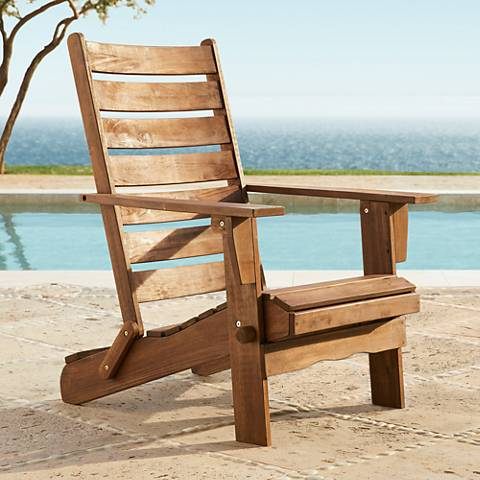 Sonoma Dark Natural Folding Adirondack Chair