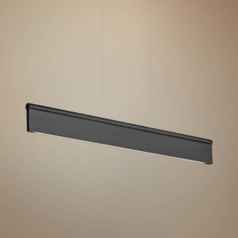 Lbl Ortex Linear 50 Quot Wide Black Led Island Pendant