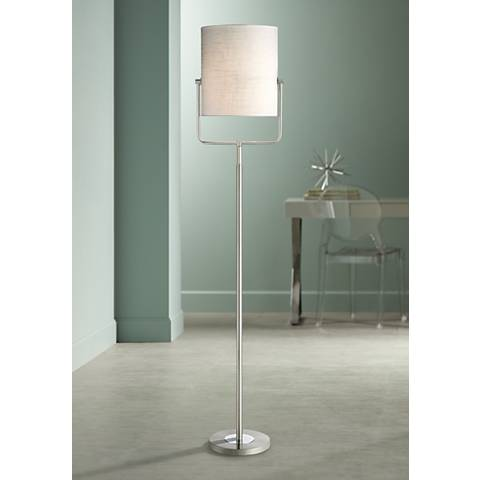 Possini Euro Galaxy Satin Nickel Spotlight Floor Lamp