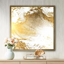 "Gold Clouds II 31 3/4"" Square Canvas Wall Art"