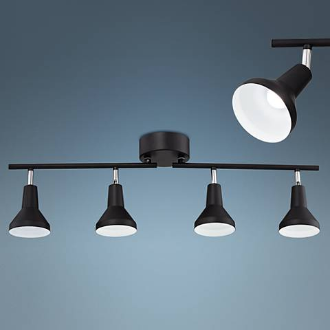 Pro Track Geary 4-Light Matte Black LED Track Fixture