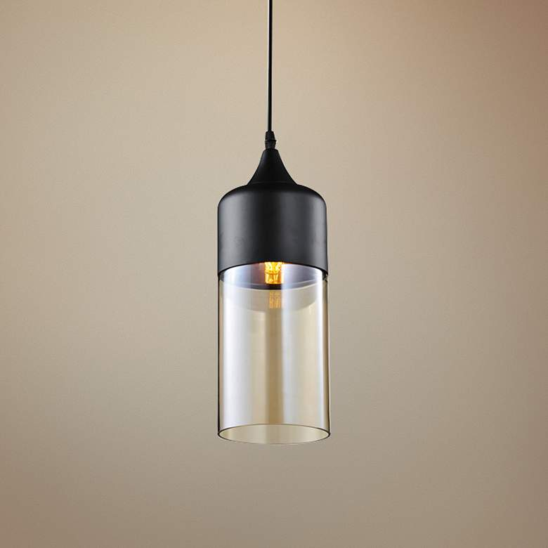 "Avenue Robertson Blvd. 5""W Black Mini Pendant"