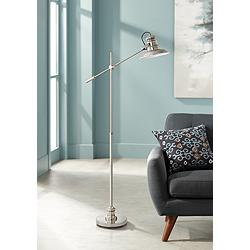 Admiral Satin Nickel Pharmacy Floor Lamp