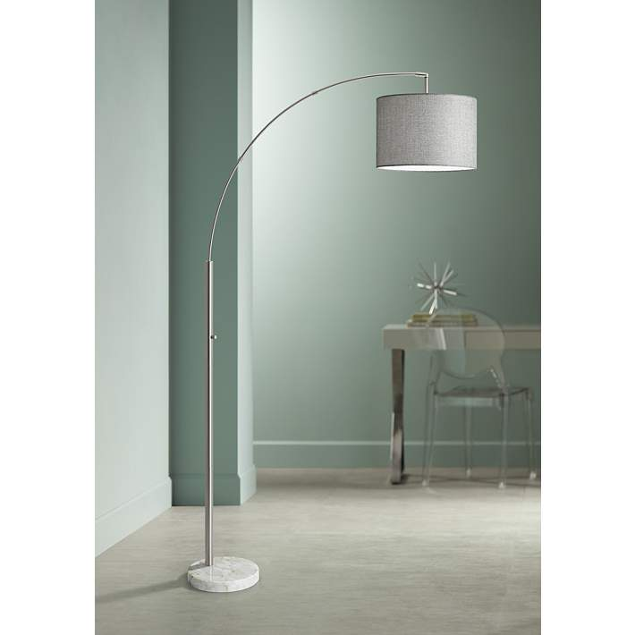 Bowery Brushed Steel Adjule Arc