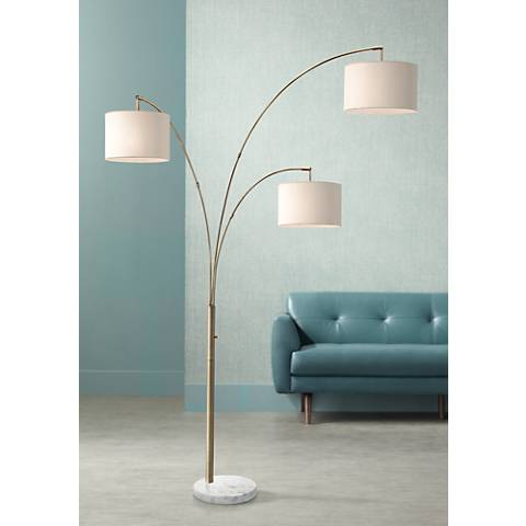 Possini Euro Design Allegra Crystal Ball Arc Floor Lamp