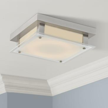 "Avenue Cermack St. 12""W Brushed Nickel LED Ceiling Light"