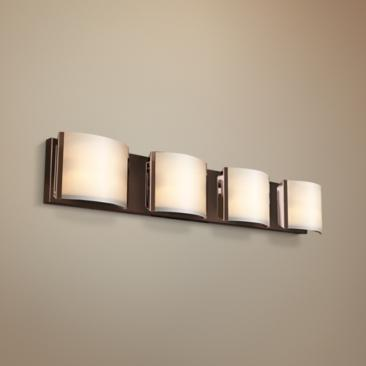 "Nitro 34 1/4"" Wide Bronze 4-LED Bath Light"