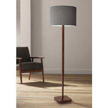 Ellis Walnut Rubberwood Floor Lamp
