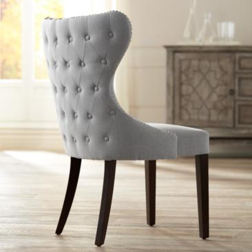 Ariana Light Gray Fabric Dining Chair