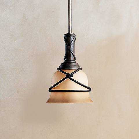 "Aspen II Collection 6 3/4""W One Light Mini-Pendant by Minka"