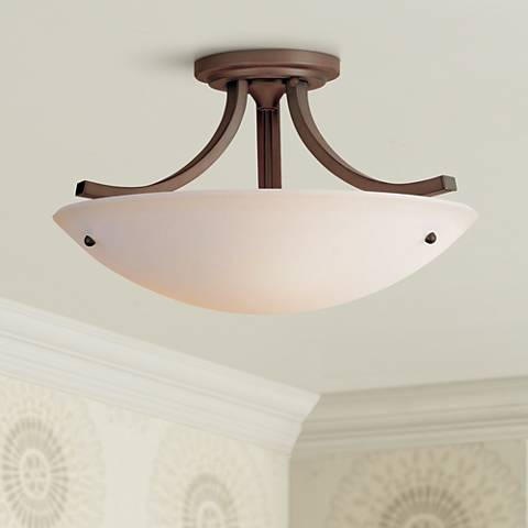 Feiss essential bronze 16 wide ceiling light fixture