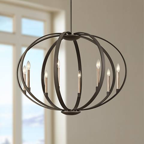 Kichler Elata 36 W Olde Bronze 8 Light Orbital Chandelier