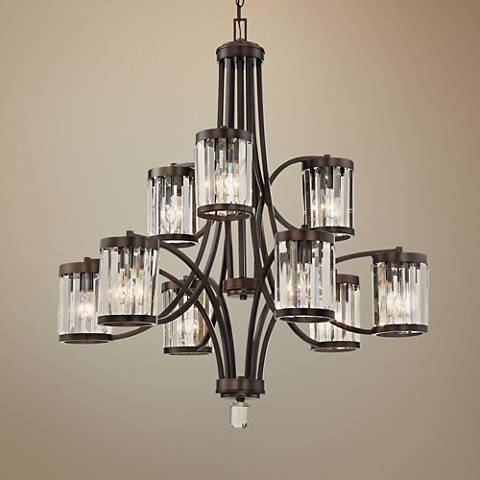 "Savoy House Nora 32 1/2"" Wide Burnished Bronze Chandelier"