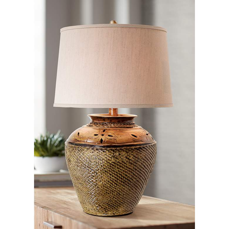 Jarosa Dark Oak Table Lamp