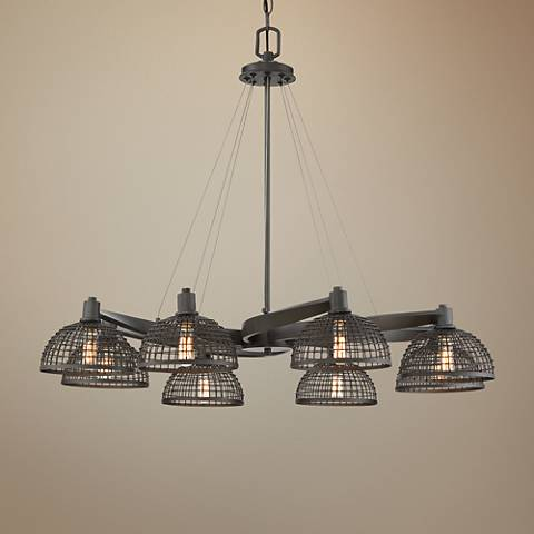 "Savoy House Wexford 35""W Remington Bronze 8-Light Chandelier"