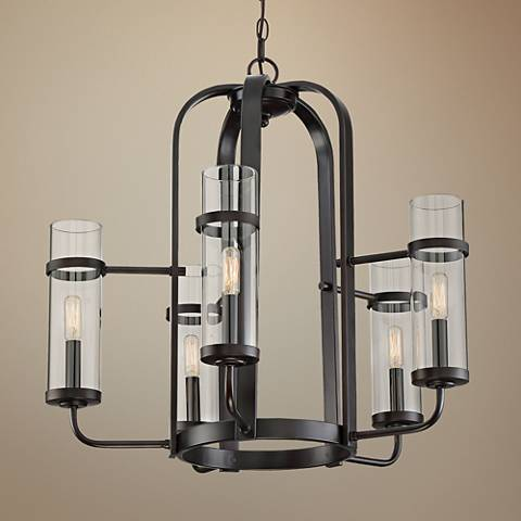"Savoy House Tulsa 26"" Wide English Bronze 5-Light Chandelier"